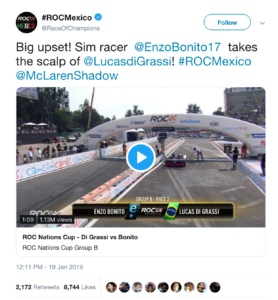 Race of Champions Mexico  tweet January 2019