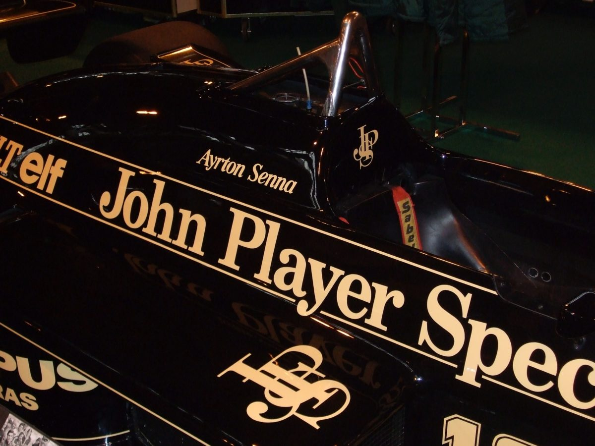 Senna's JPS F1 car