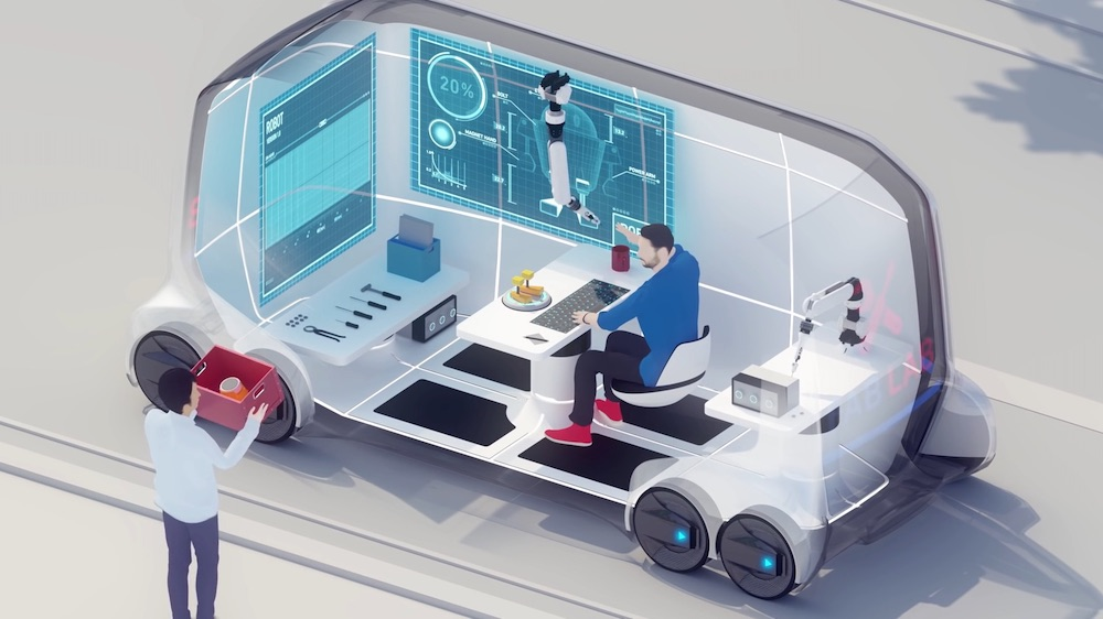 Toyota e-Palette concept, via Takram