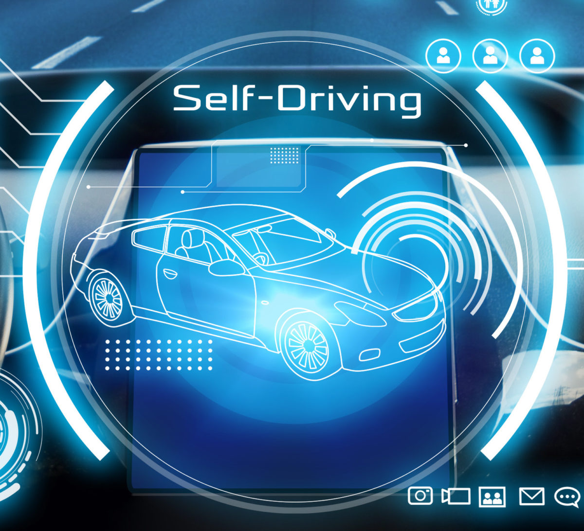 iStock Cockpit of futuristic autonomous car.